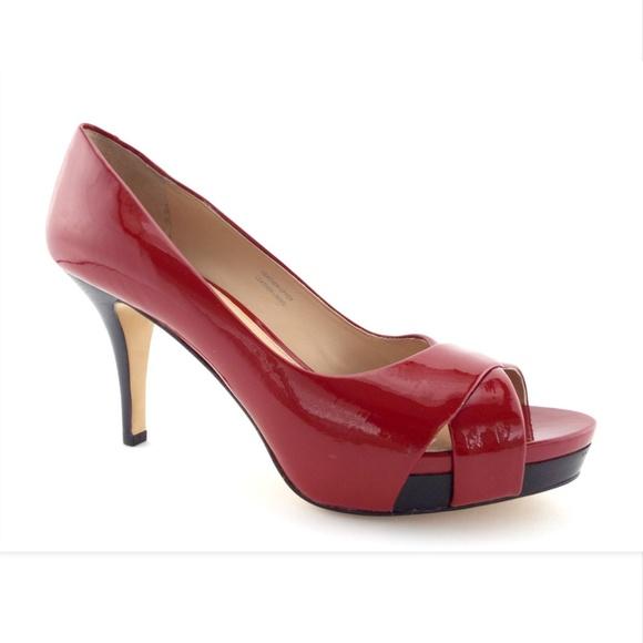 00cf36e6b1 Via Spiga Shoes | Unworn Red Patent Platform Heels Pumps 7 | Poshmark
